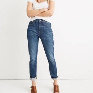 NWT Madewell Tall High Rise Slim Boyjean